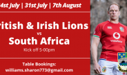 The first test is here, come and watch the Lions at Bedwas RFC